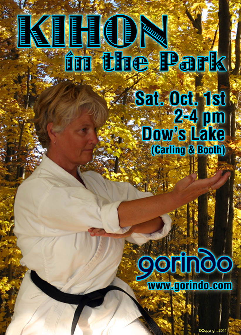 'Kihon in the Park' Sat. 1st October 2-3pm Dow's Lake